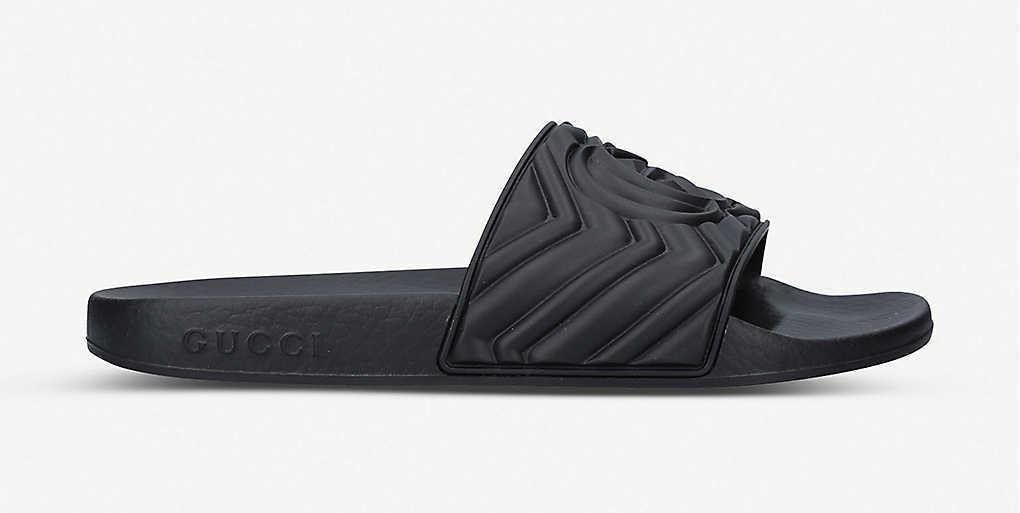 Gucci Padded Black Slider