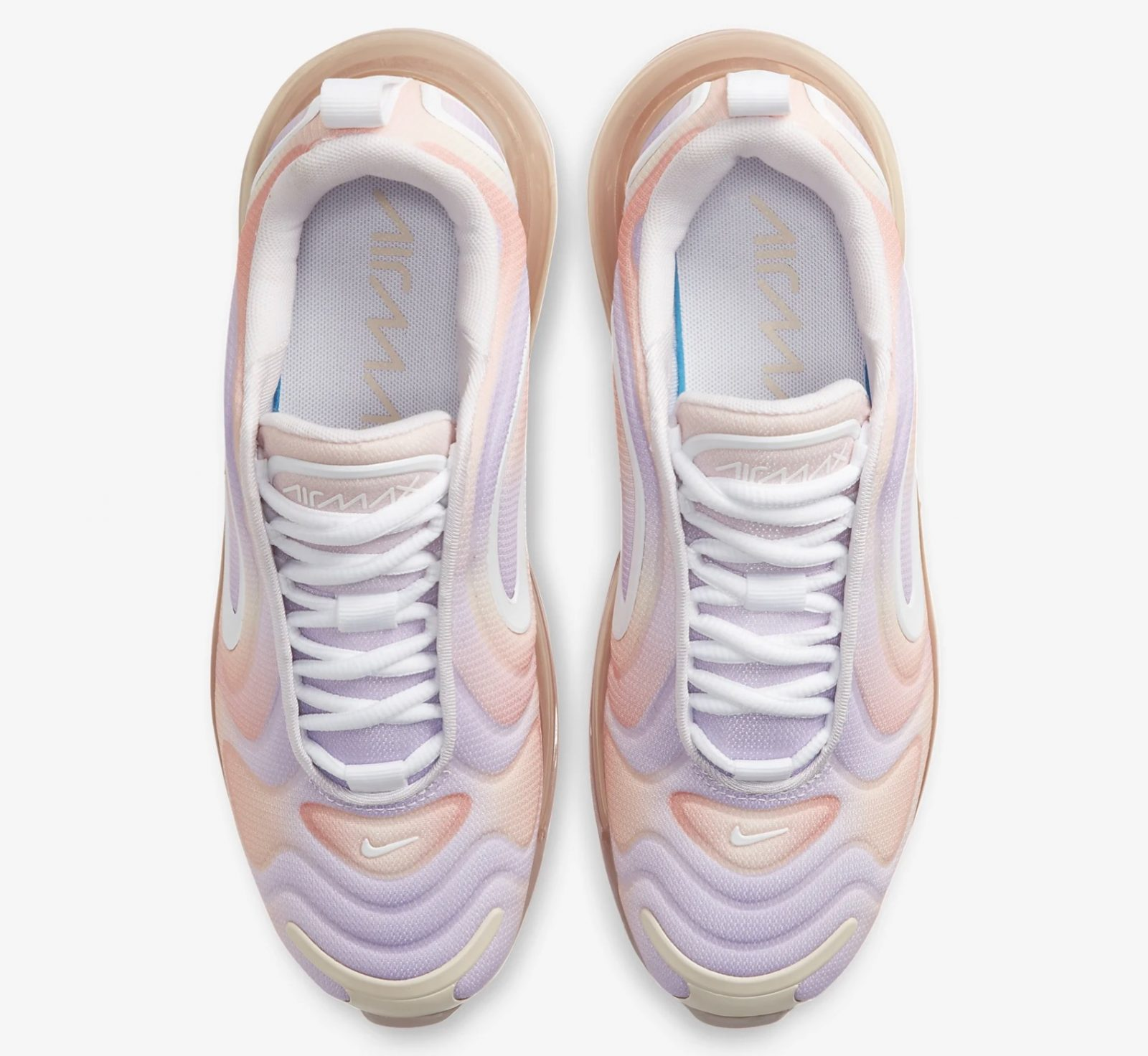 It Doesn't Get Prettier Than This Tie-Dye Style Air Max 720 'Print' In Light Violet 4 laaces