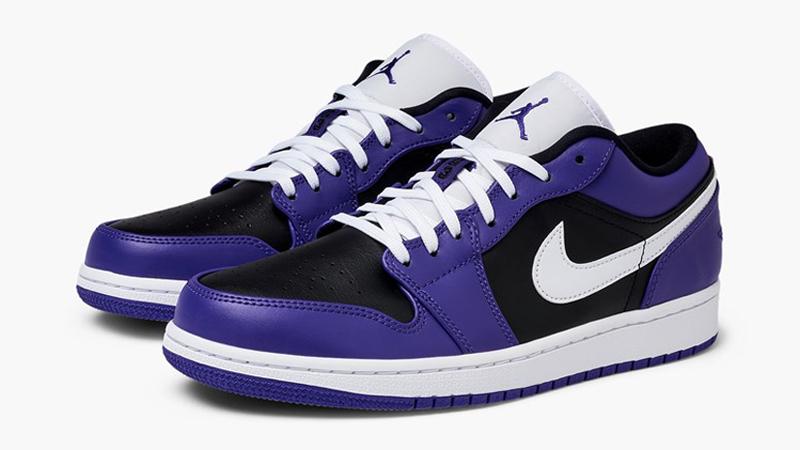 Jordan 1 Low Purple Black Front