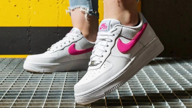 Nike Air Force 1 '07 White Fire Pink On Foot thumbnail image