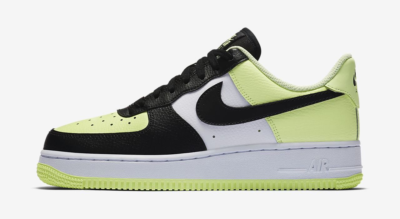 Nike Air Force 1 Black Barely Volt