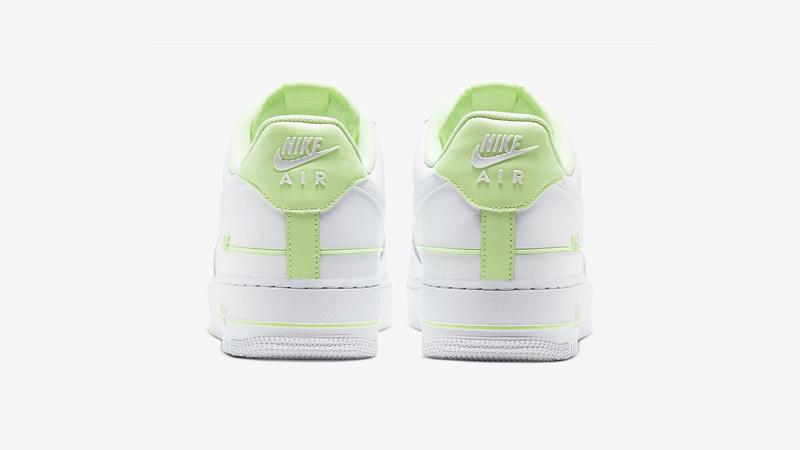 Nike Air Force 1 Double AIR White Volt Back