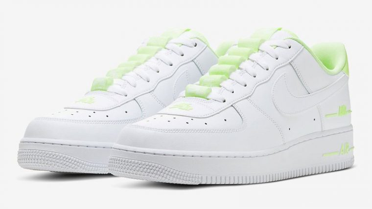 Nike Air Force 1 Double AIR White Volt Front thumbnail image