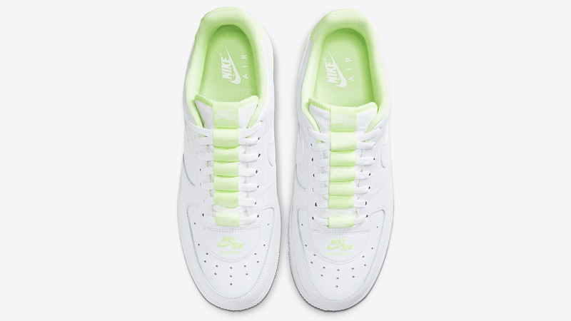 Nike Air Force 1 Double AIR White Volt Middle