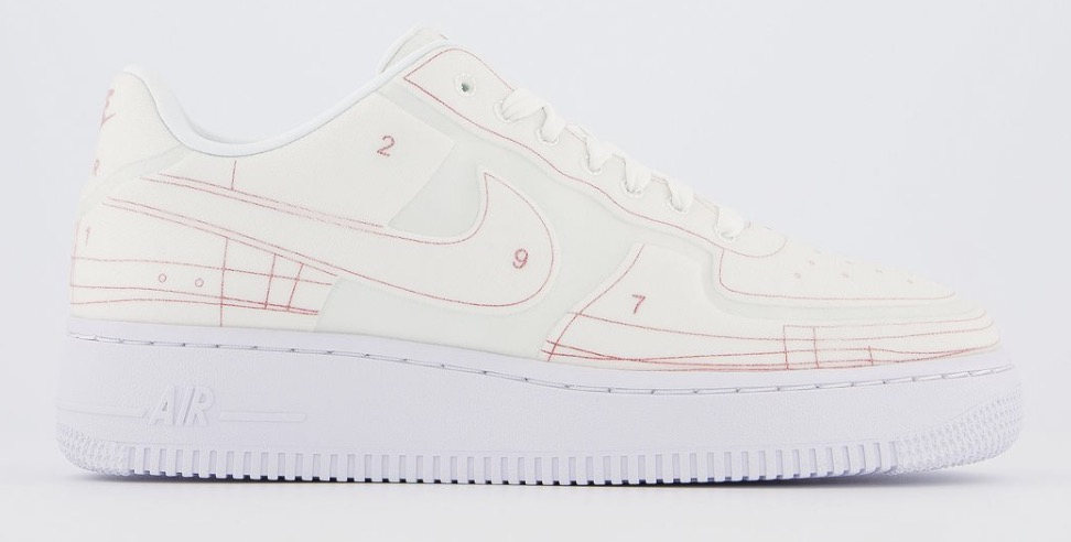 Nike Air Force 1 Schematic White