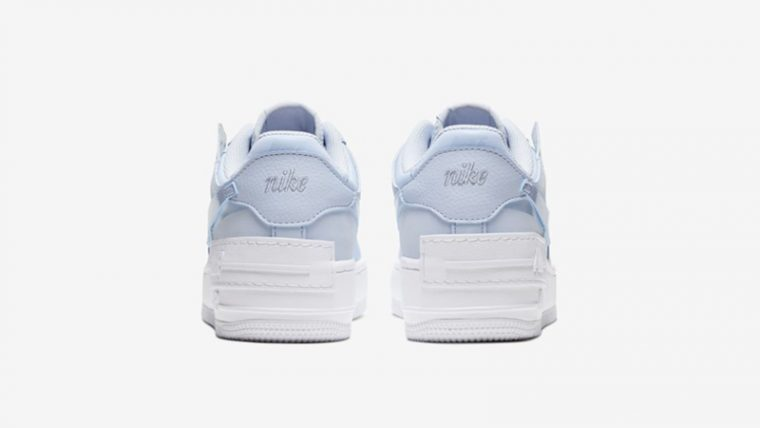 Nike Air Force 1 Shadow Hydrogen Blue White Back thumbnail image