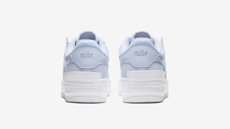 Nike Air Force 1 Shadow Hydrogen Blue White Back