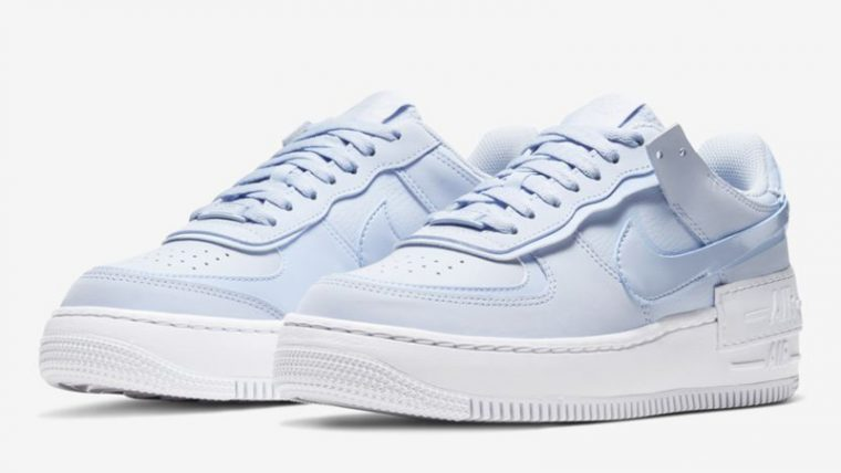 Nike Air Force 1 Shadow Hydrogen Blue White Front thumbnail image