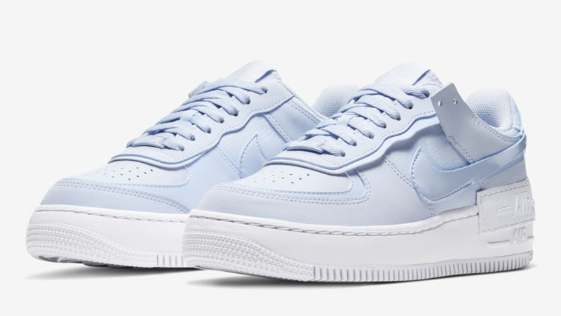 Nike Air Force 1 Shadow Hydrogen Blue White Front