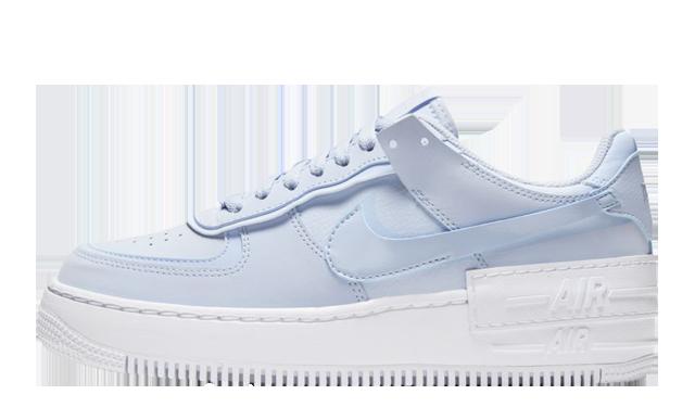 Nike Air Force 1 Shadow Hydrogen Blue White | CV3020-400