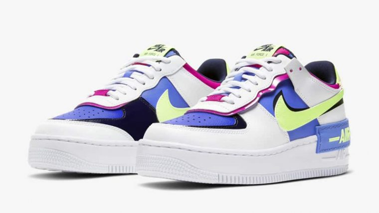 Nike Air Force 1 Shadow Sapphire White Front thumbnail image