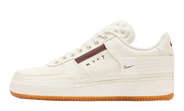Nike Air Force 1 Type Light Ivory Earth Brown