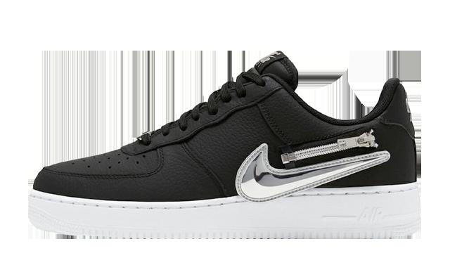 Nike Air Force 1 Zip-On Swoosh Black