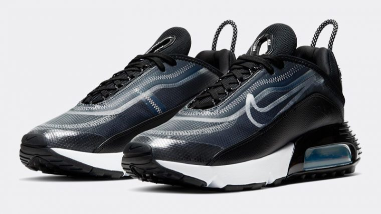 Nike Air Max 2090 Black Metallic Silver Front thumbnail image