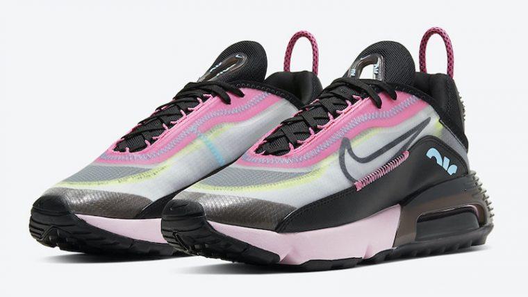 Nike Air Max 2090 Pink Black Front thumbnail image