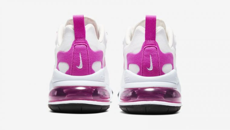 Nike Air Max 270 React White Fire Pink Back thumbnail image