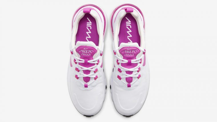 Nike Air Max 270 React White Fire Pink Middle thumbnail image