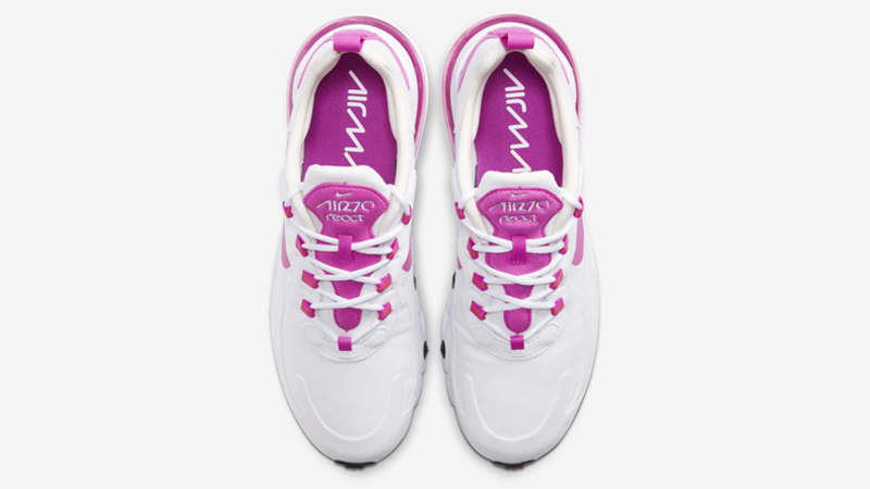 Nike Air Max 270 React White Fire Pink Middle