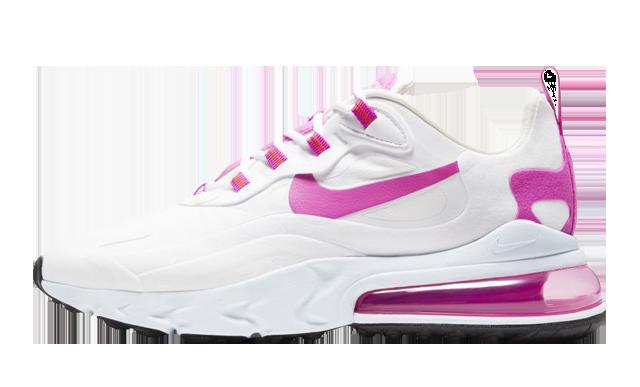 Nike Air Max 270 React White Fire Pink