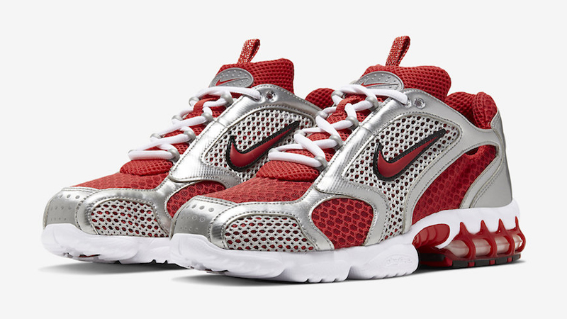 Nike Air Zoom Spiridon Cage 2 Varsity Red White Front