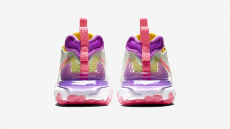 Nike React Vision Pistachio Frost Vivid Purple Back thumbnail image