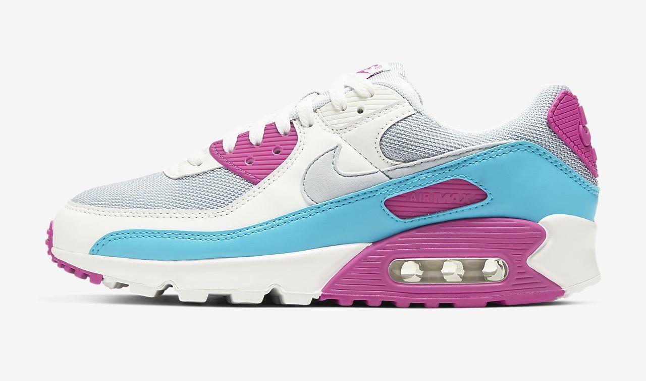 Nike air Max 90 white fire pink