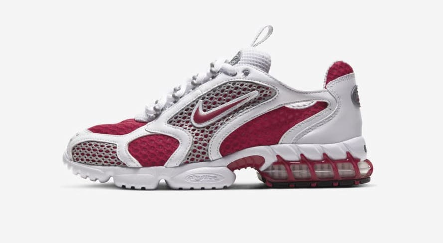 Nike air-zoom-spiridon-cage-2-cardinal-red side