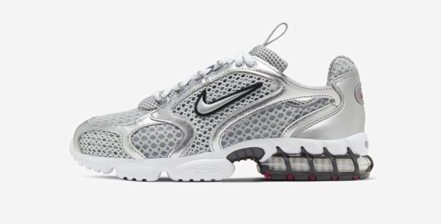 Nike air-zoom-spiridon-cage-2 metallic silver side