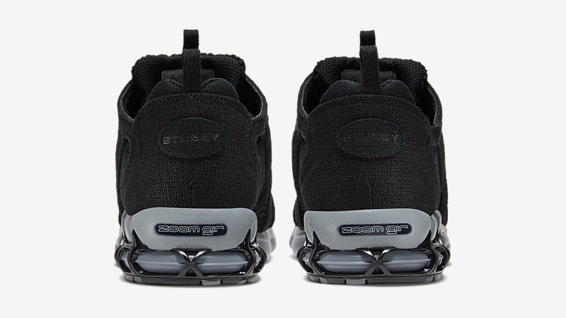 Stussy x Nike Air Zoom Spiridon Cage 2 Black Grey Back