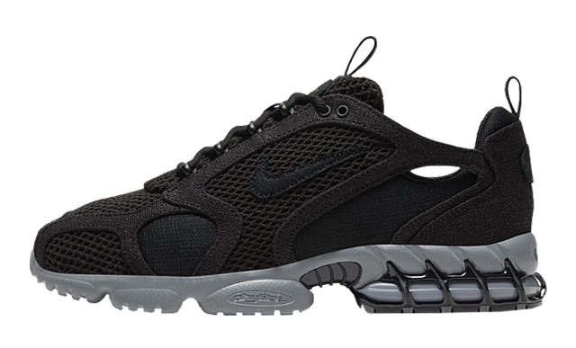 Stussy x Nike Air Zoom Spiridon Cage 2 Black Grey