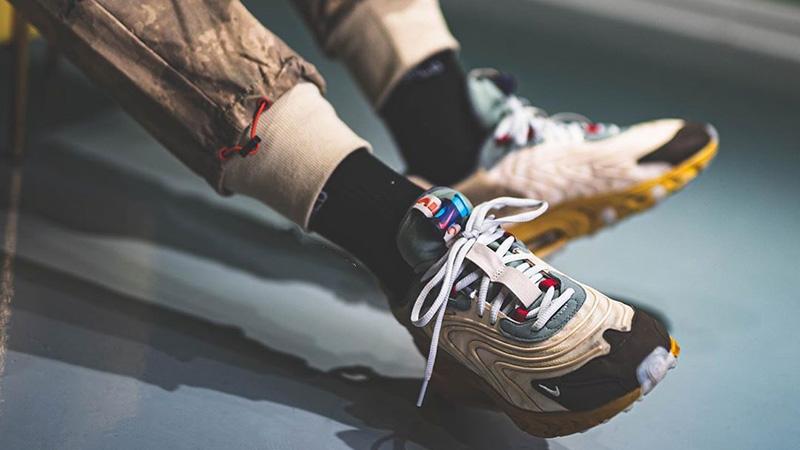 Travis Scott x Nike Air Max 270 React Cactus Jack On Foot