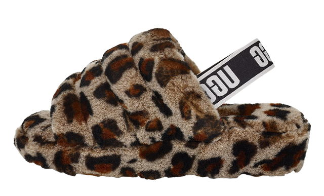 UGG Fluff Yeah Leopard Slide Amphora