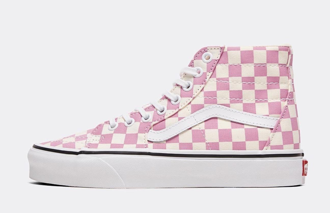 Vans Sk8 Hi Pink Checkerboard