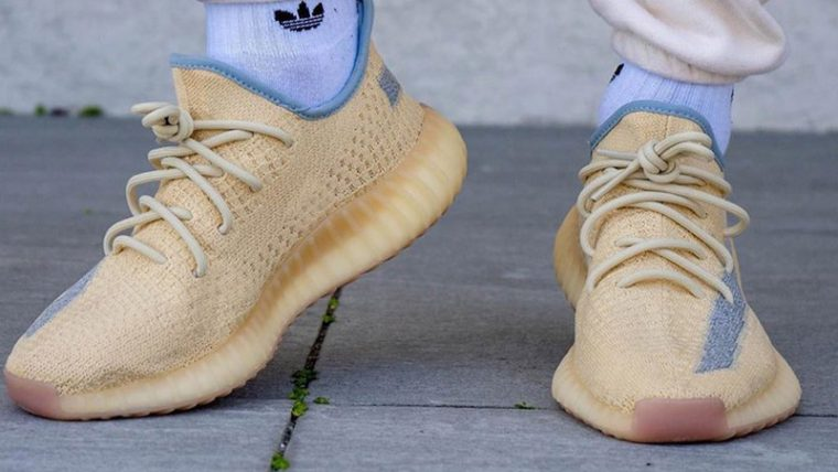 Yeezy Boost 350 V2 Linen On Foot 1 thumbnail image