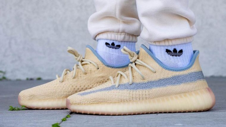 Yeezy Boost 350 V2 Linen On Foot thumbnail image