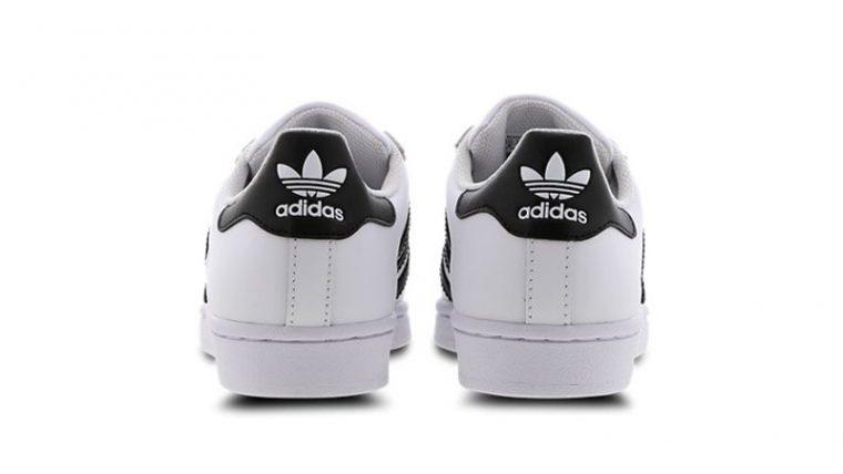 adidas Superstar 2 GS White Black C77154 back thumbnail image