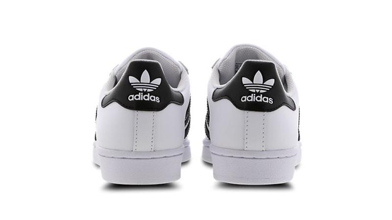 adidas Superstar 2 GS White Black C77154 back