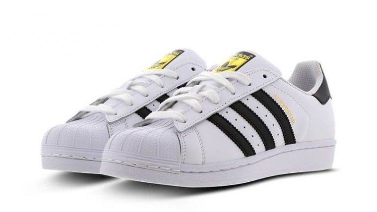 adidas Superstar 2 GS White Black C77154 front thumbnail image