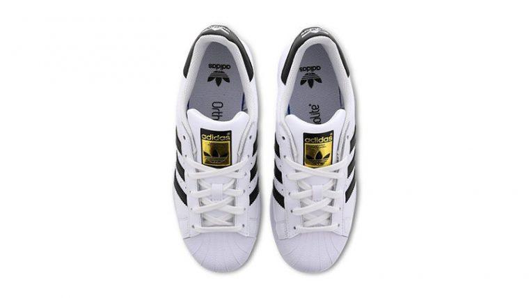adidas Superstar 2 GS White Black C77154 middle thumbnail image
