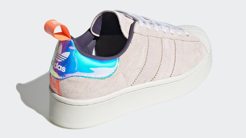 adidas Superstar Bold Girls Are Awesome Cloud White Icey Pink Back