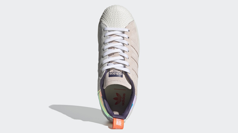 adidas Superstar Bold Girls Are Awesome Cloud White Icey Pink Middle