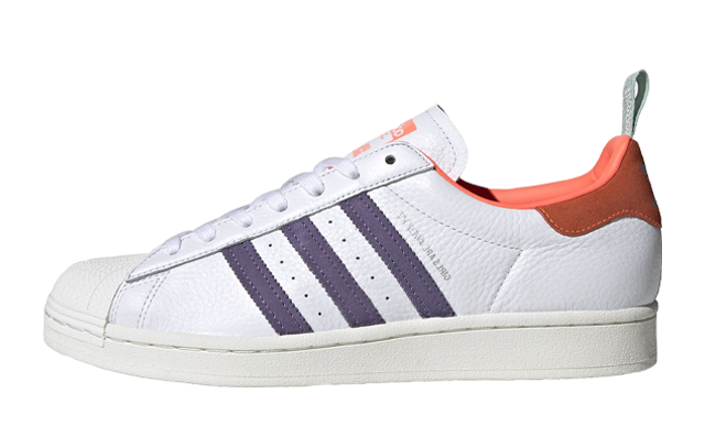 adidas Superstar Bold Girls Are Awesome Cloud White Signal Coral