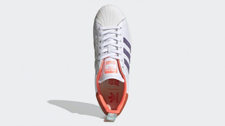 adidas Superstar Bold Girls Are Awesome Cloud White Signal Coral Middle thumbnail image