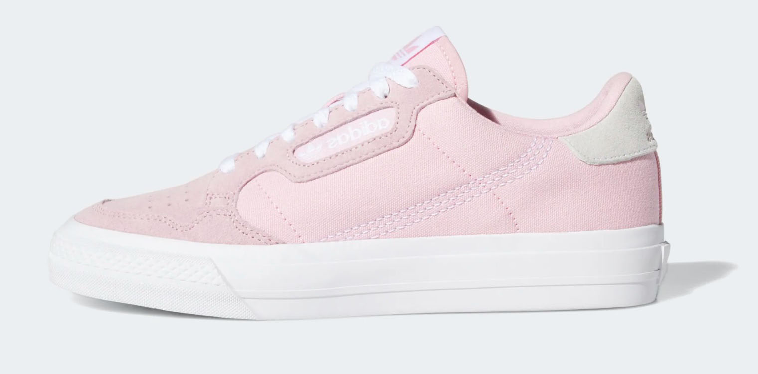 adidas continental vulc pink