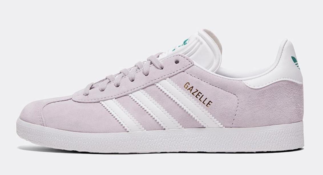 adidas gazelle purple white