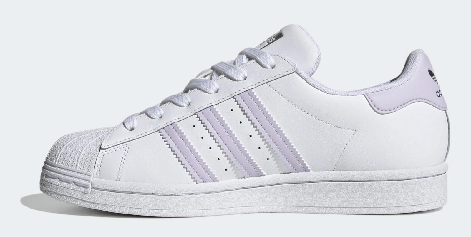 adidas superstar white purple