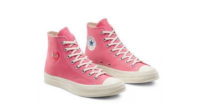 Comme des Garcons Play x Converse Chuck Taylor All Star 70 High Bright Pink Front