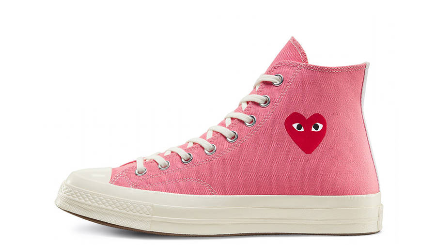Comme des Garcons Play x Converse Chuck Taylor All Star 70 High Bright Pink