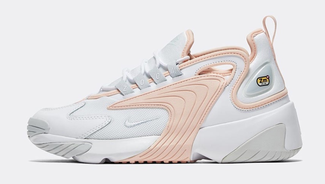 nike zoom 2k washed coral white