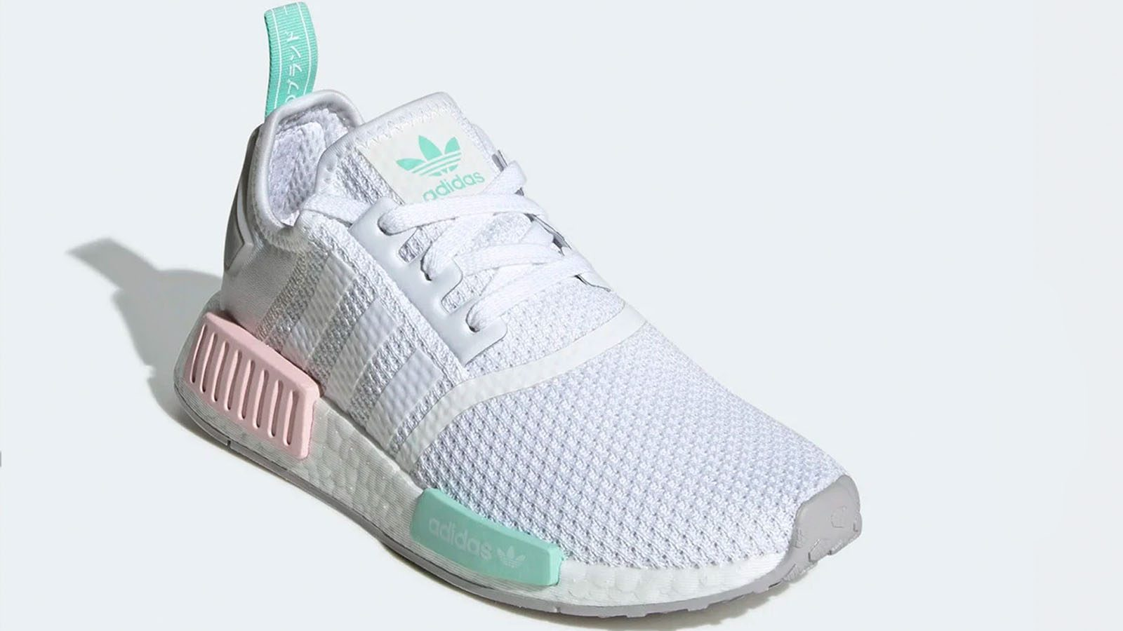 white pink green adidas NMD R1